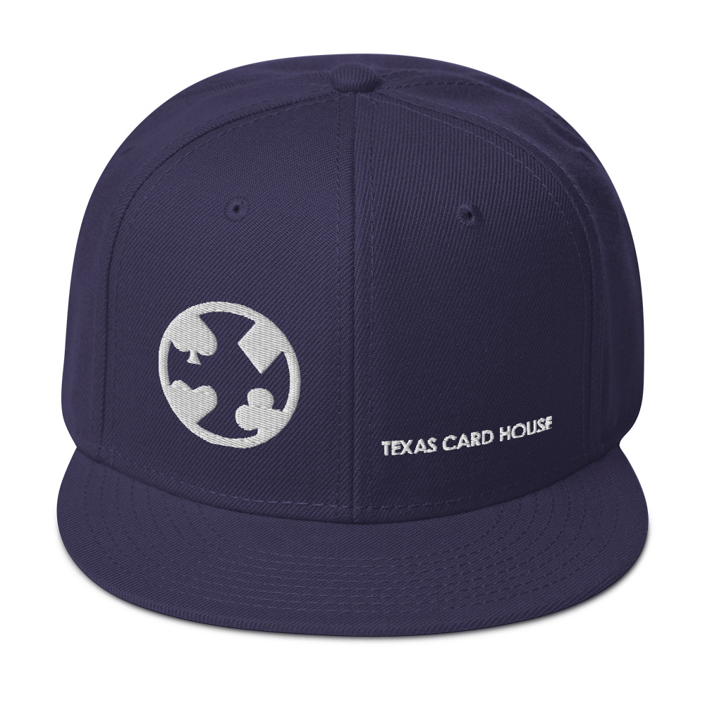 Texas Card House Snapback Hat #2
